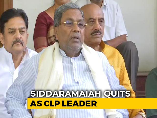 Video: Congress's Siddaramaiah Quits As Legislative Party Leader After Karnataka Bypoll Defeat