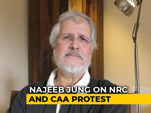 Video : NRC Has Nothing To Do With Any Religion At All: Najeeb Jung