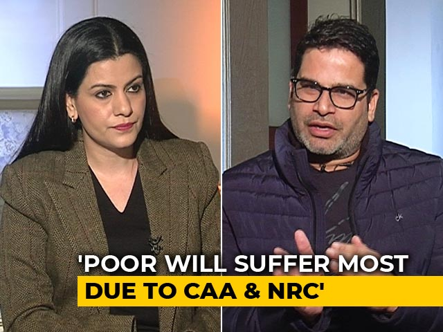 Video : There Won't Be NRC In Bihar, Nationwide NRC Not Possible: Prashant Kishor To NDTV