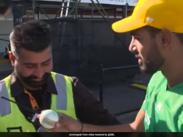 Watch: Pakistan Bowler Haris Rauf Gives Match Ball To Indian Security Guard After Taking Five Wickets