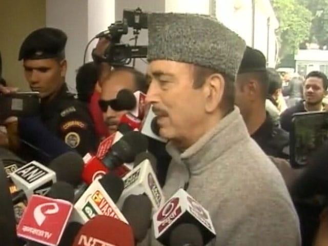 "Video : ""Promises Made By BJP In Last 6 Years Have Been Lies"": Ghulam Nabi Azad"