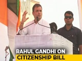 "Video : Citizenship Bill ""Attempt To Ethnically Cleanse North East"": Rahul Gandhi"