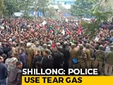 Video : Cops Use Tear Gas, Lathi-Charge At Citizenship Act Protest In Shillong