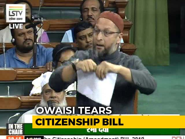 Video : Asaduddin Owaisi Tears Citizenship Bill In Lok Sabha Amid Fiery Debate