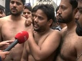 Video : Watch: Jamia Male Students, Shirtless, Protest Against Violence On Campus