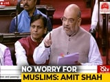 "Video : ""Muslims Needn't Worry"": Amit Shah In Parliament On Citizenship Bill"