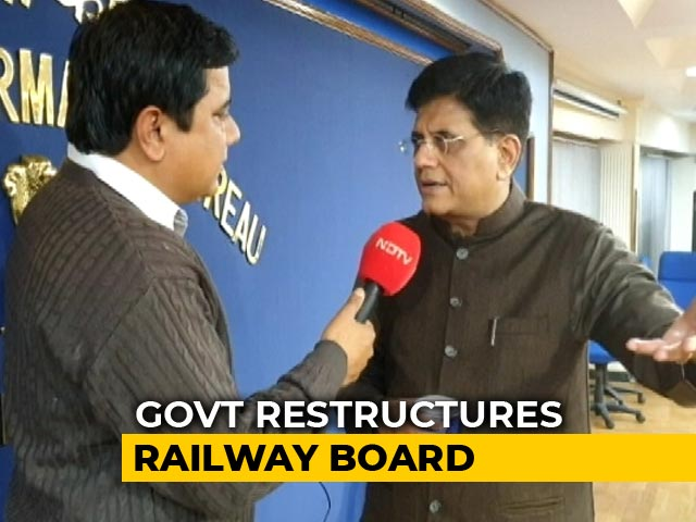 "Video : Railway Board To Be Downsized In ""Organisational Restructuring"": Centre"