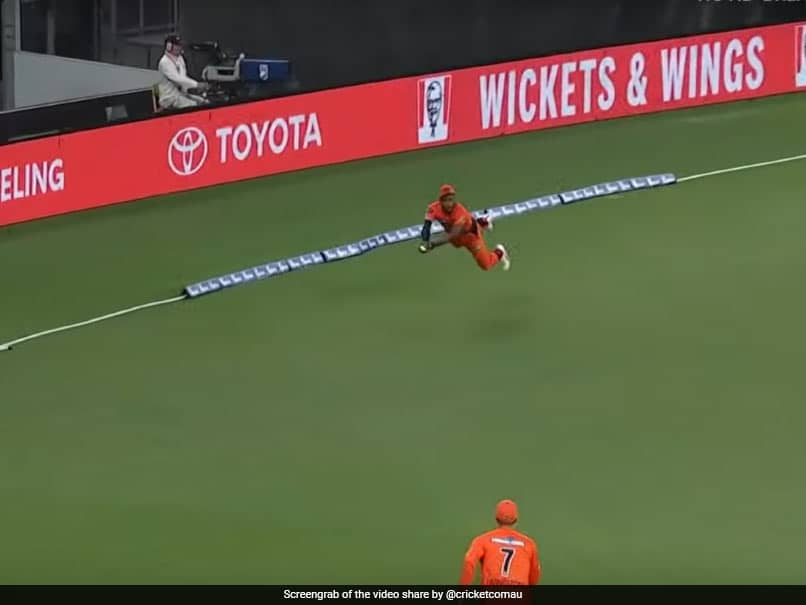 Big Bash League: Chris Jordan Adds Another Gem To His List Of Freak Catches - Watch