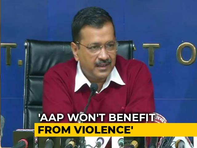 "Video : ""Country Knows Who's Capable Of Riots"": Arvind Kejriwal On Delhi Protests"