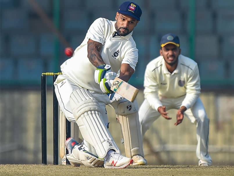 Ranji Trophy: Shikhar Dhawan Century Keeps Delhi Afloat Against Hyderabad