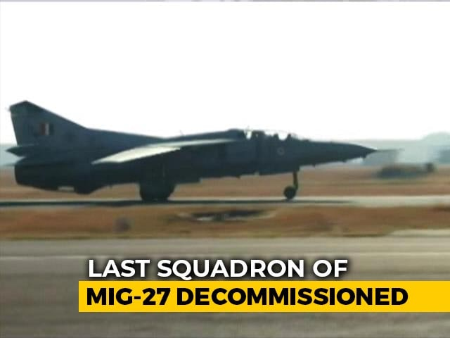 Video : IAF Bids Farewell To Its Last 'Swing-Wing' Fighter, The MiG-27