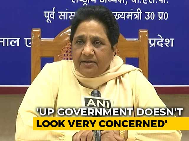 "Video : ""UP Governor Is A Woman..."": Mayawati Stings BJP Over Unnao Death"