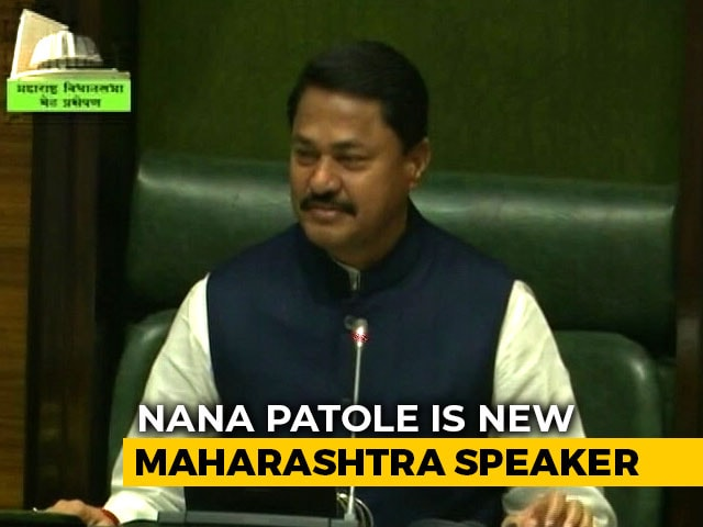 Video : Congress's Nana Patole Is New Maharashtra Speaker, BJP Nominee Pulls Out