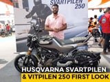 Video : Husqvarna Svartpilen 250 & Vitpieln 250 First Look