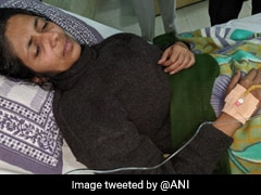 Delhi Women Panel Head Falls Unconscious During Strike, Hospitalised