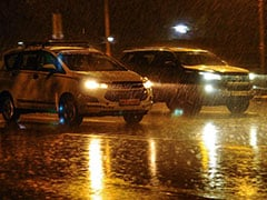 Heavy Rains Cause Traffic In Delhi, Air Quality Remains ''Poor''