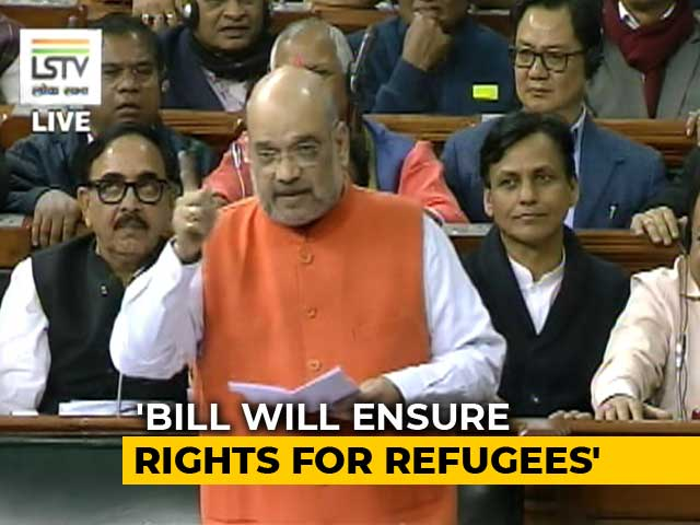 "Video : ""No Intent To Discriminate"": Amit Shah In Citizenship Bill Debate"