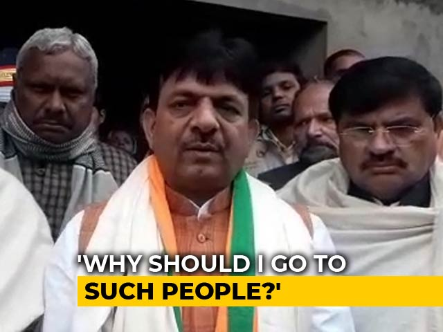 Video : UP Minister Skips Homes Of 2 Muslim Men Killed In Violence, Denies Bias