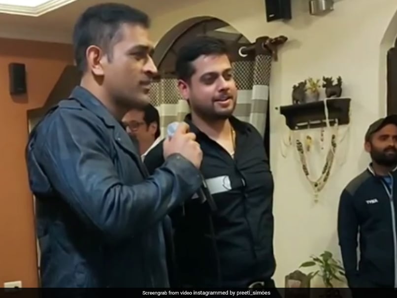 Watch: MS Dhoni Sings Old Hindi Movie Song In Viral Video