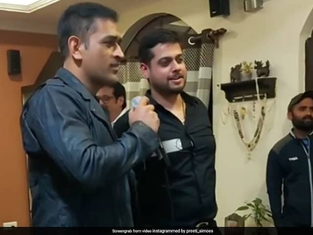 MS Dhoni Sings Old Hindi Movie Song In Viral Video. Watch