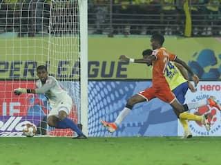 ISL: Lenny Rodrigues Injury Time Goal Helps Ten-Man FC Goa Hold Kerala Blasters To 2-2 Draw