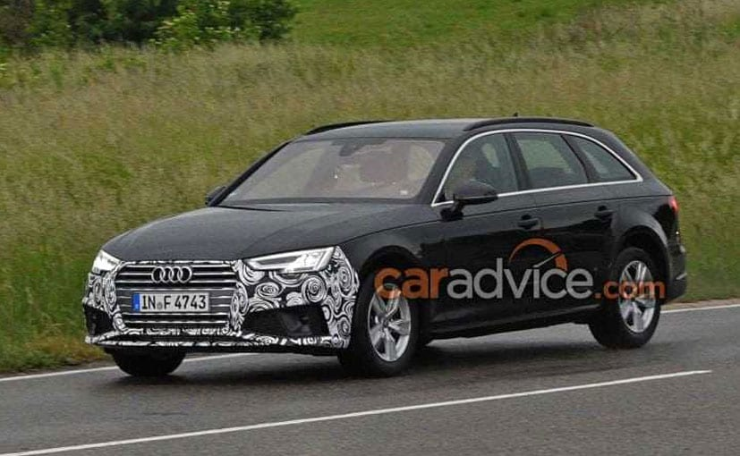 2019 Audi A4 Avant Facelift Spied With Minimum Camouflage Ndtv