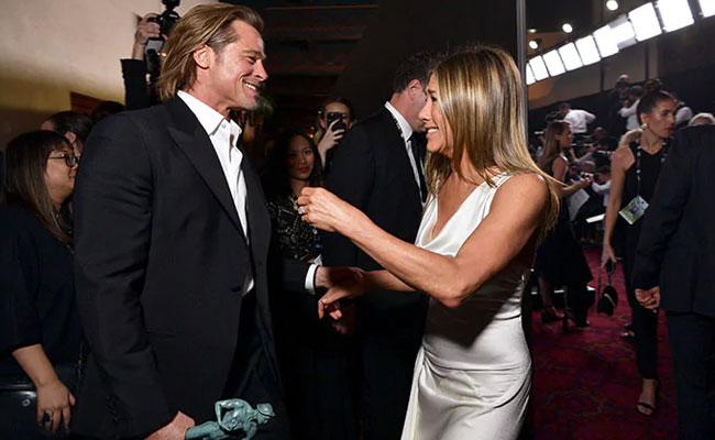 'Sweet': Jennifer Aniston's Reaction To Brad Pitt Watching Her SAG Awards Speech