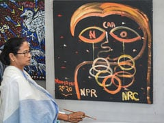 Mamata Banerjee, Other Kolkata Artists Pick Up Paint Brushes To Protest Against CAA