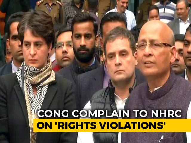 "Video : Congress Meets Human Rights Body Over ""Brutalities"" During UP Protests"