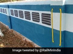 टीचर ने स्कूल की दीवारों पर किया ऐसा पेंट, रेलवे ने की जमकर तारीफ