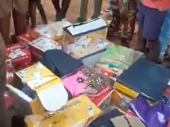 Annoyed With Panchayat Poll Candidate, Chhattisgarh Villagers Pile Freebies At Bus Stop