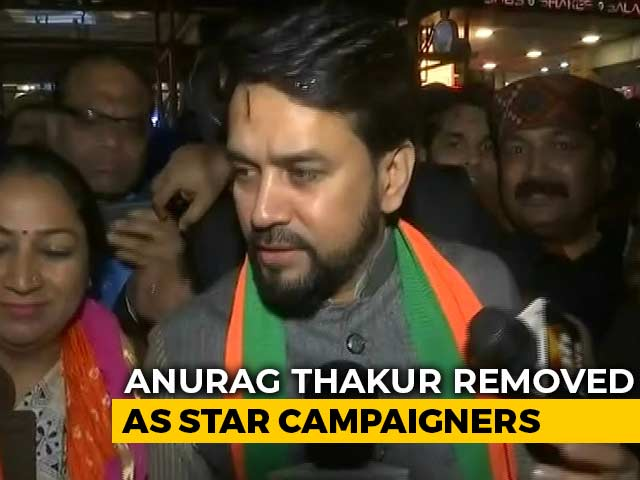 Video : Drop Anurag Thakur, Parvesh Verma As BJP Star Campaigners, Says Poll Body