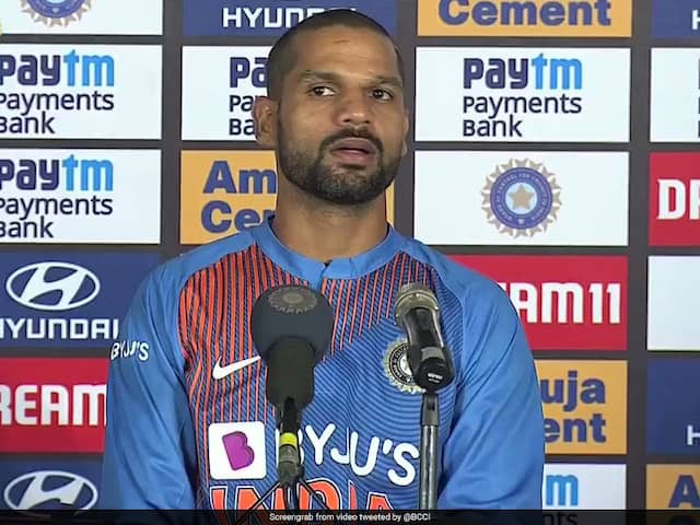 """Not My Headache"": Shikhar Dhawan Reacts To Indias Problem Of Plenty At The Top. Watch"