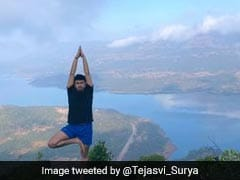 BJP MP Tejasvi Surya Performs Yoga At Spectacular Location. See Pics