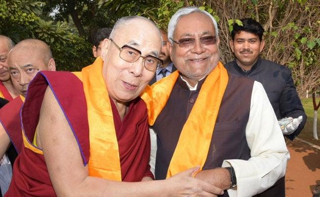 Nitish Kumar's Warm Welcome To Dalai Lama As He Visits Patna