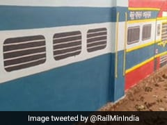 Teacher Paints Train Coaches On School Walls; Railway Applauds Creativity