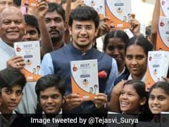 "Tejasvi Surya Distributes Guide Books To Address Students' ""Poor Performance"" In His Constituency"