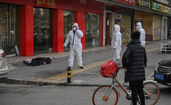 Dead Man Found On An Empty Street In China's Wuhan Amid Virus Outbreak