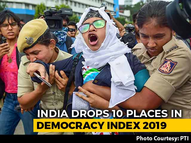 "Video : ""Erosion Of Liberties"": India Slips 10 Places In Democracy Index 2019"