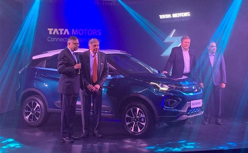 Ratan Tata, Chairman- Emeritus and Guenter Butschek, CEO- Tata Motors at the Nexon EV launch.