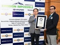 Hyundai Kona Electric Sets New Guinness World Record
