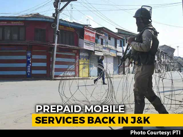 Video : SMS, Voice Calls Restored On Prepaid Mobiles In Jammu and Kashmir