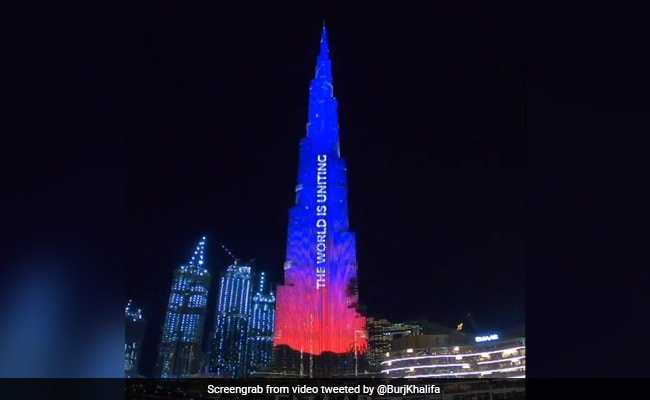 Burj Khalifa Lights Up In Support Of Australia Over Devastating Wildfires