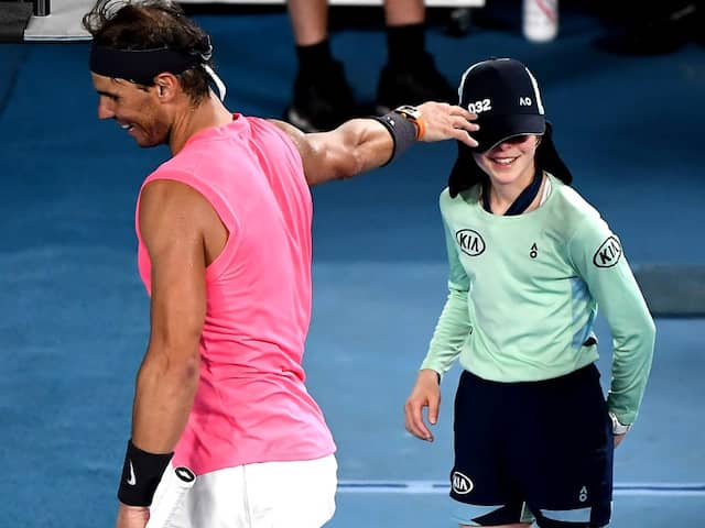 Australian Open: Rafael Nadals Adorable Gesture After Accidentally Hitting Ballkid On Head. Watch