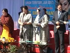 """New Journey"": Smriti Irani, Piyush Goyal Continue Centre's J&K Outreach"