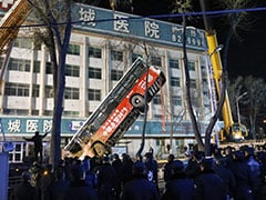 On Camera, Huge Sinkhole Swallows Bus In China; 6 Killed, 10 Missing