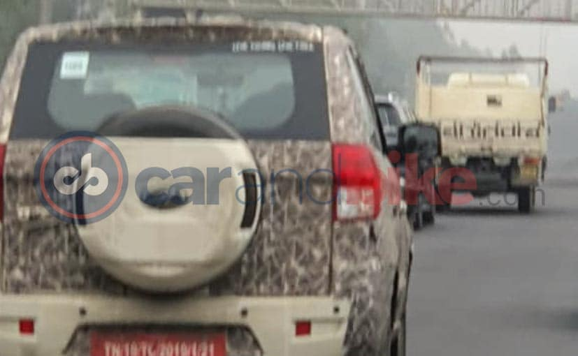 2020 Mahindra TUV300 Plus Facelift With Camouflage Spotted Again While Testing In India