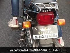 "Pune Police's Hilarious Reaction To Number Plate With ""Khansaab"" Sticker"