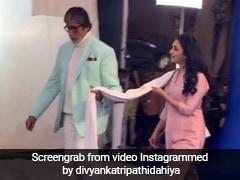 दिव्यांका त्रिपाठी को दुपट्टे से पकड़कर ले जा रहे थे अमिताभ बच्चन, Video हुआ वायरल