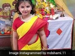 मोहम्मद शमी की बेटी ने साड़ी पहनकर मनाई बसंत पंचमी, फोटो पोस्ट कर बोले- 'ईश्वर आपका भला करे...'